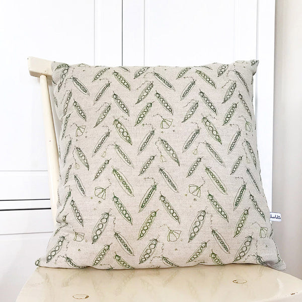 LINEN CUSHION - Peas