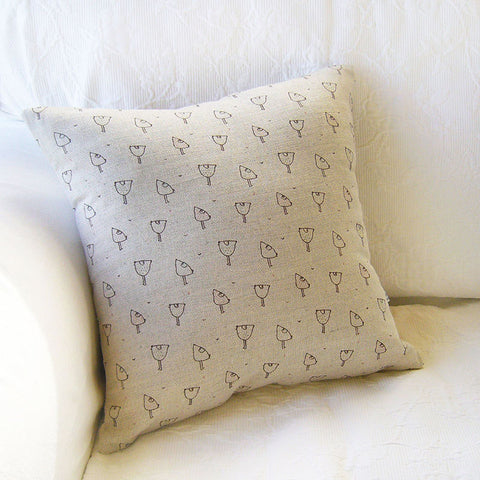 LINEN CUSHION - little hens