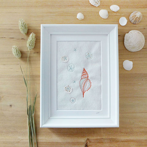 Little Periwinkle Embroidered Picture