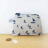 COIN PURSE - sailboats