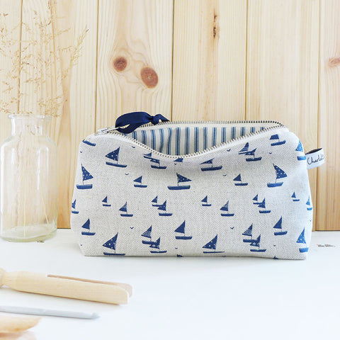 MID POUCH - sailboats
