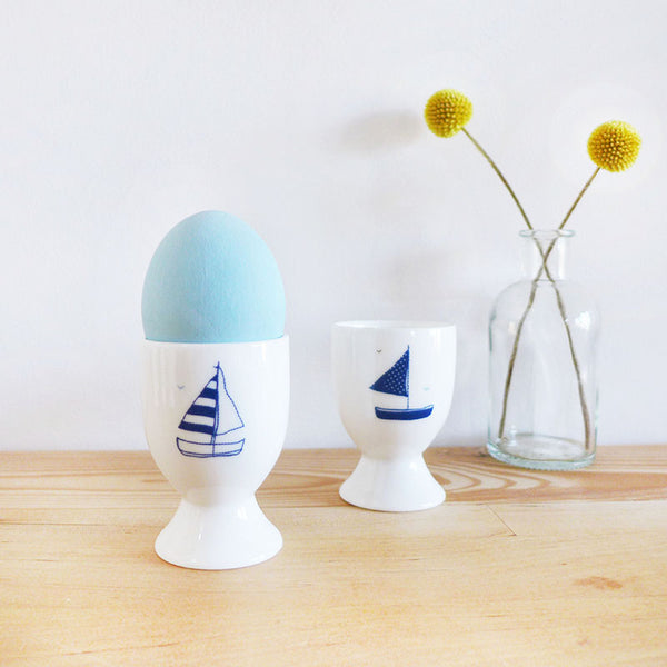 PAIR OF EGG CUPS - Yachts