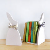 Pink Rabbit Bookends