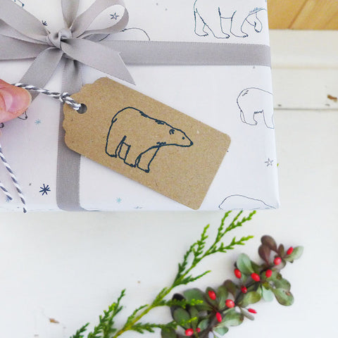 Polar Bear Christmas Gift Tags