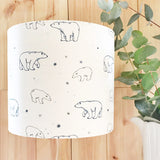 Polar Bears Linen Lampshade