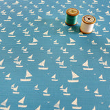 FABRIC - Cornish blue Sailboats