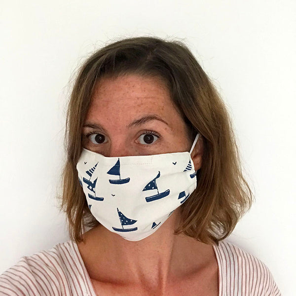 COTTON FACE MASK - Sailboats
