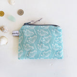 COIN PURSE - cow parsley, sea mist