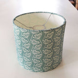 Seagreen Cow Parsley Linen Lampshade