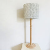 Dove Grey Cow Parsley Linen Lampshade