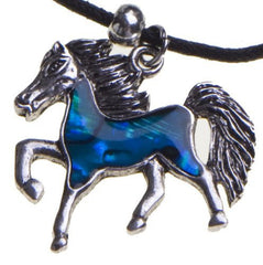 Shell Horse Pendant Necklace