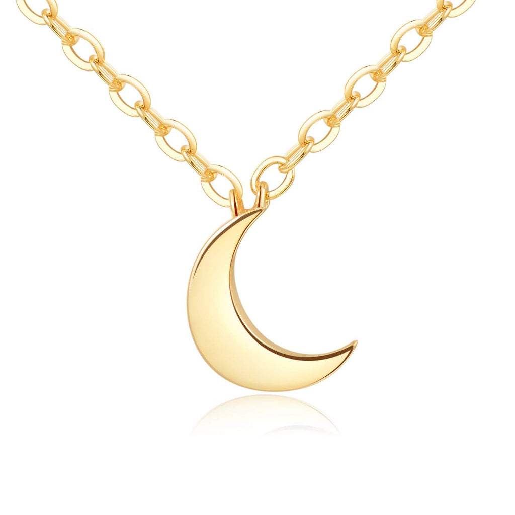 Crescent Moon Necklace [Gift Ready] - 18k Gold