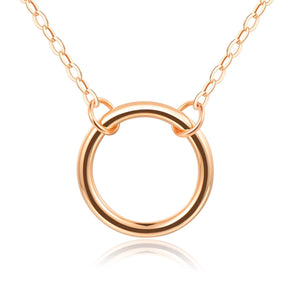 Embolden Jewelry Open Circle Necklace (BFF, Friendship, Bridesmaid) Gift Ready - Gold Plating Over Brass 18""