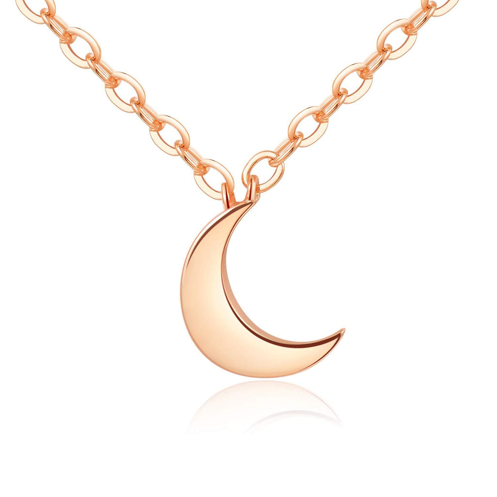 Crescent Moon Necklace [Gift Ready] - 18k Rose Gold