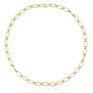 Chain Link Layering Necklace [18K Gold Plated .925]