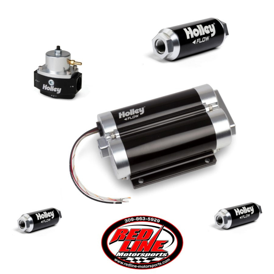 130 GPH Dominator Dual Inlet In-Line Billet EFI Fuel Pump Kit (Up to 1200 HP N/A or 650 HP Boosted on Gasoline at 13.8V)