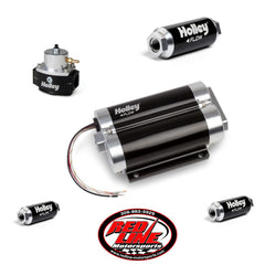 160 GPH Dominator Dual Inlet In-Line Billet EFI Fuel Pump Kit (Up to 1600 HP N/A or 850 HP Boosted on Gasoline at 13.8V)
