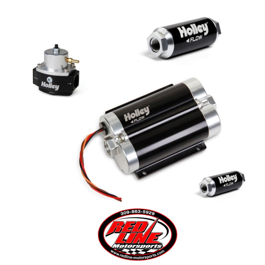 160 GPH Dominator In-Line Billet EFI Fuel Pump Kit (Up to 1600 HP N/A or 850 HP Boosted on Gasoline at 13.8V)