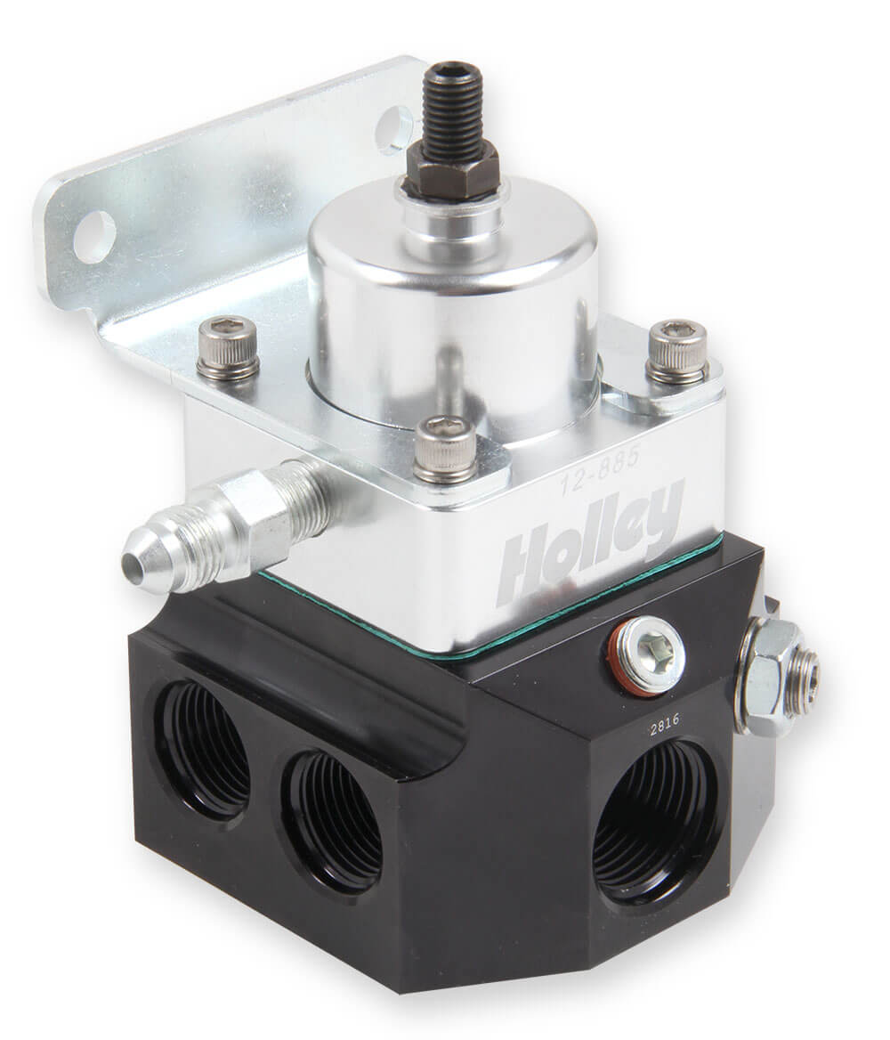 4 Port Double Adjustable Regulator 8AN Inlet/ 10AN Outlet Adjustable from 4-9 PSI