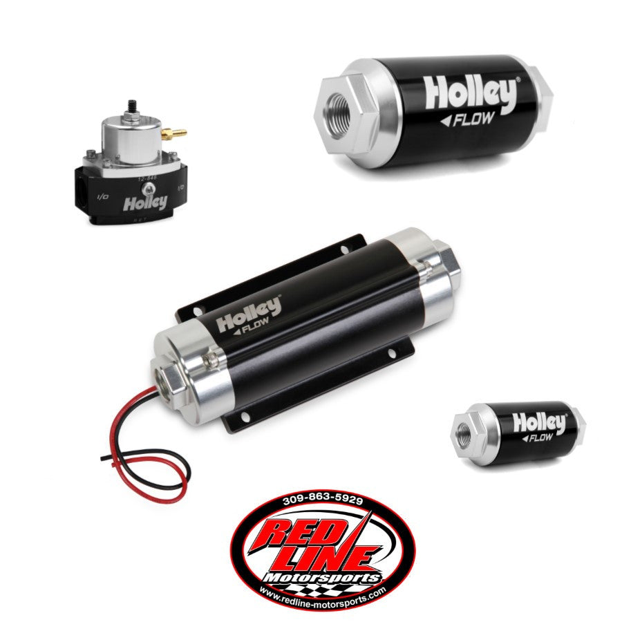 100 GPH HP In-line Fuel Pump Kit (Up to 900 HP N/A OR 500 HP BOOSTED ON GASOLINE at 13.8V)