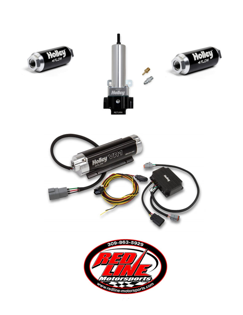 VR1 SERIES BRUSHLESS FUEL PUMP 2 PORT REGULATOR KIT (Up to 1600 HP N/A or 950 HP Boosted on Gasoline at 13.8V)