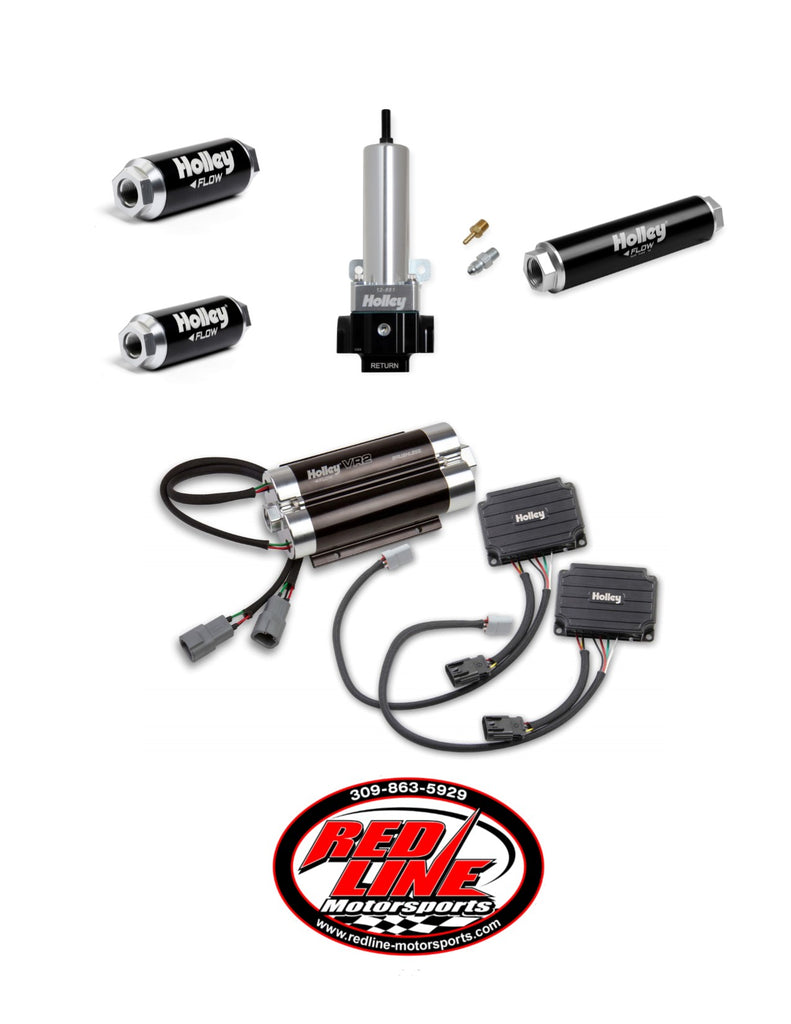 VR2 BRUSHLESS FUEL PUMP-DUAL 10AN INLET WITH 2 PORT REGULATOR KIT (Up to 3200 HP N/A or 1900 HP Boosted on Gasoline at 13.8V)