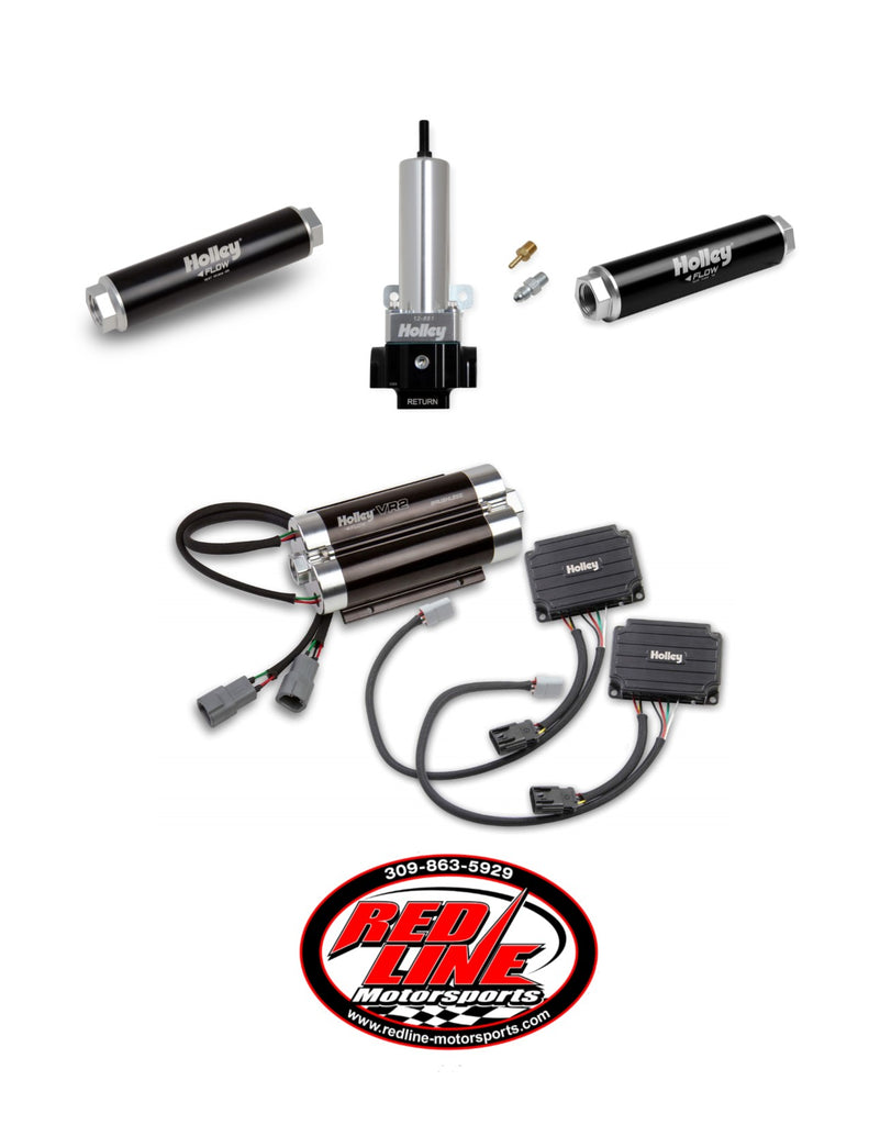 VR2 BRUSHLESS FUEL PUMP-SINGLE 16AN INLET WITH 2 PORT REGULATOR KIT (Up to 3200 HP N/A or 1900 HP Boosted on Gasoline at 13.8V)