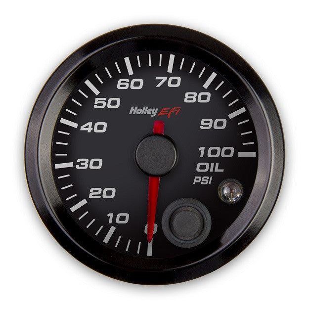 2-1/16 OIL PRESSURE GAUGE, 0-100PSI, CAN, BLACK