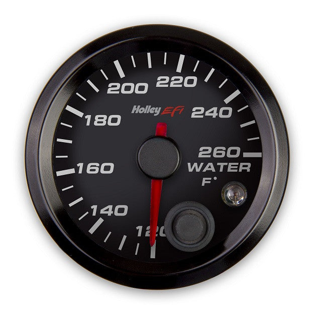 2-1/16 COOLANT TEMP GAUGE, 120-260F, CAN, BLACK