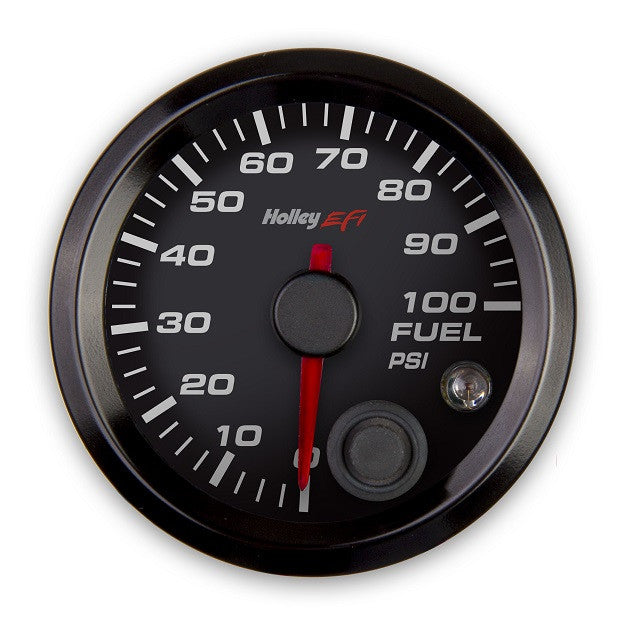 2-1/16 FUEL PRESSURE GAUGE, 0-100PSI, CAN, BLACK
