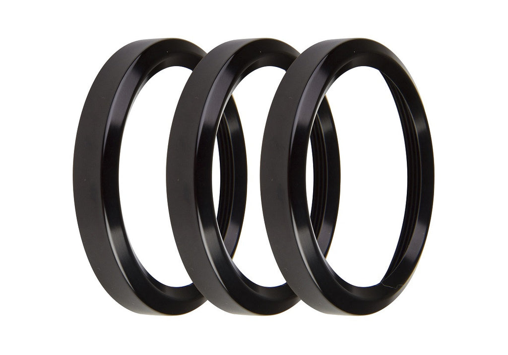 2-1/16 BEZELS, BLACK, PACK OF 3