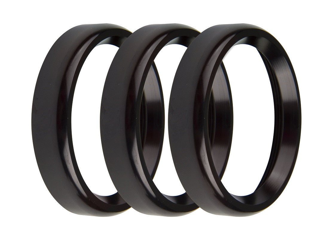 2-1/16 BEZELS, BLACK, BOLD, PACK OF 3