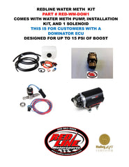 REDLINE WATER/METH KIT FOR HOLLEY DOMINATOR COMPUTERS WITH 1 SOLENOID (UP TO 15 PSI)