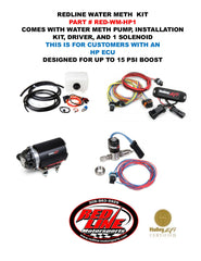 REDLINE WATER/METH KIT FOR HOLLEY HP COMPUTERS WITH 1 SOLENOID (UP TO 15 PSI)