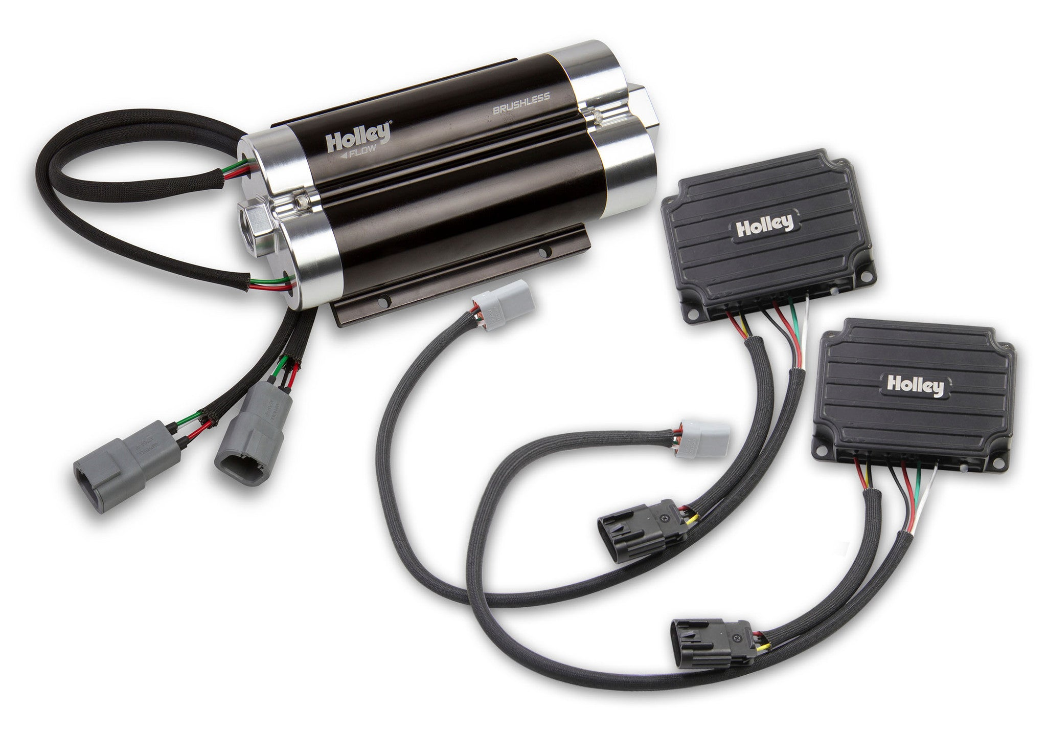 Ultra Dominator Brushless Fuel Pump w/Controller-Dual 10AN Inlet