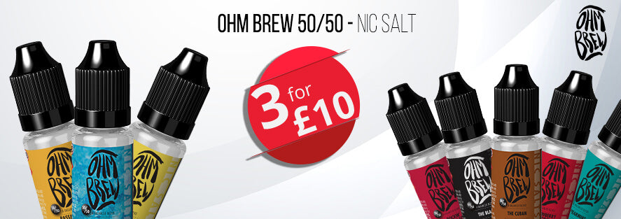 Ohm Brew 50/50 3 for £10