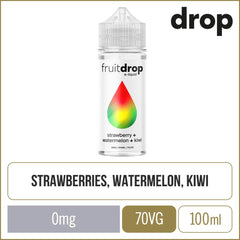 Fruit Drop Strawberry Watermelon Kiwi E-Liquid 100ml