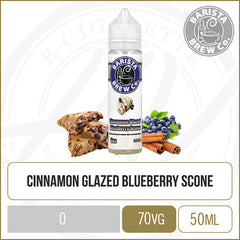 Cinnamon Glazed Blueberry Scone