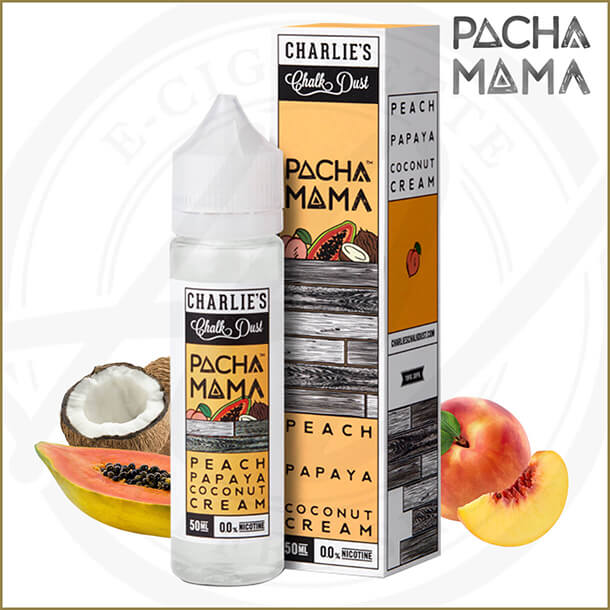 Pacha Mama E-Liquids | Peach Papaya Coconut Cream