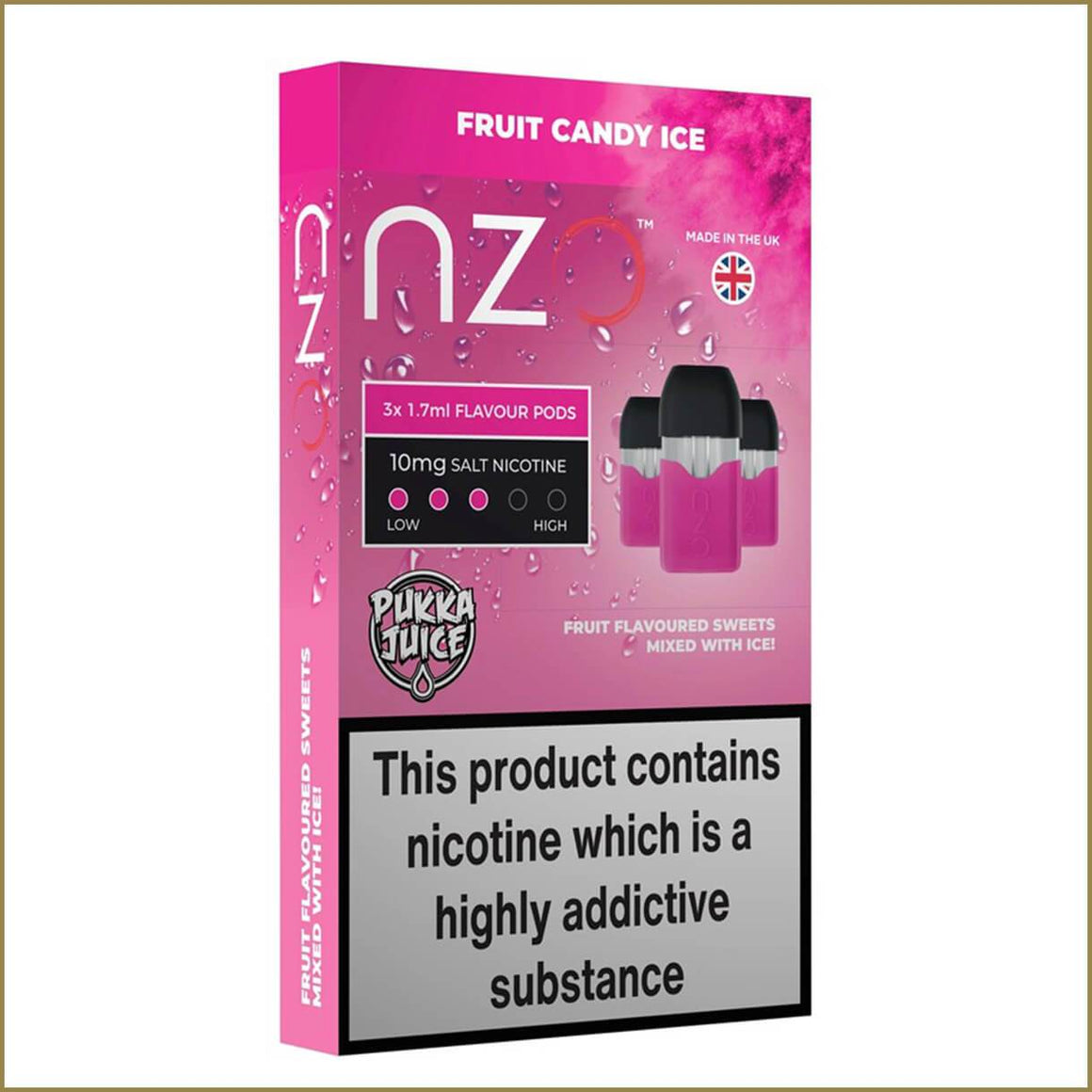 nzo Pukka Juice fruit candy ice pods 3 pack