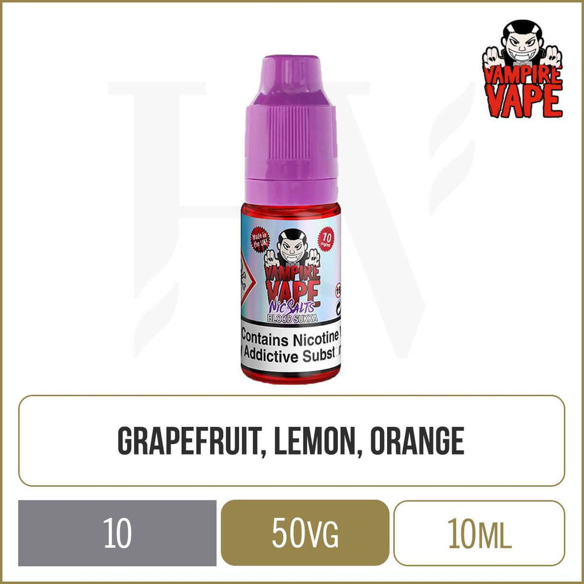 Vampire Vape Nic Salts blood sukka e-liquid 10ml