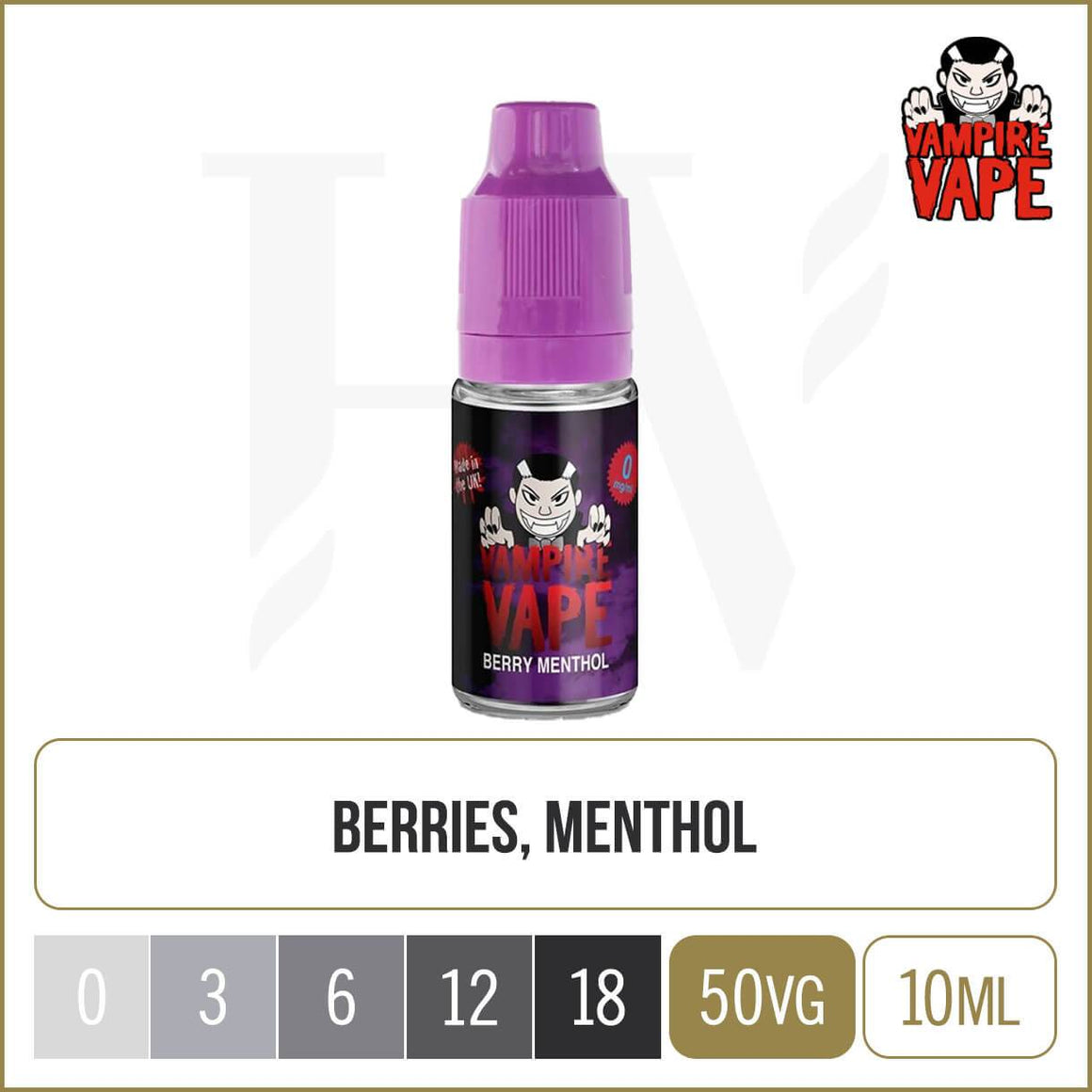 Vampire Vape berry menthol e liquid 10ml