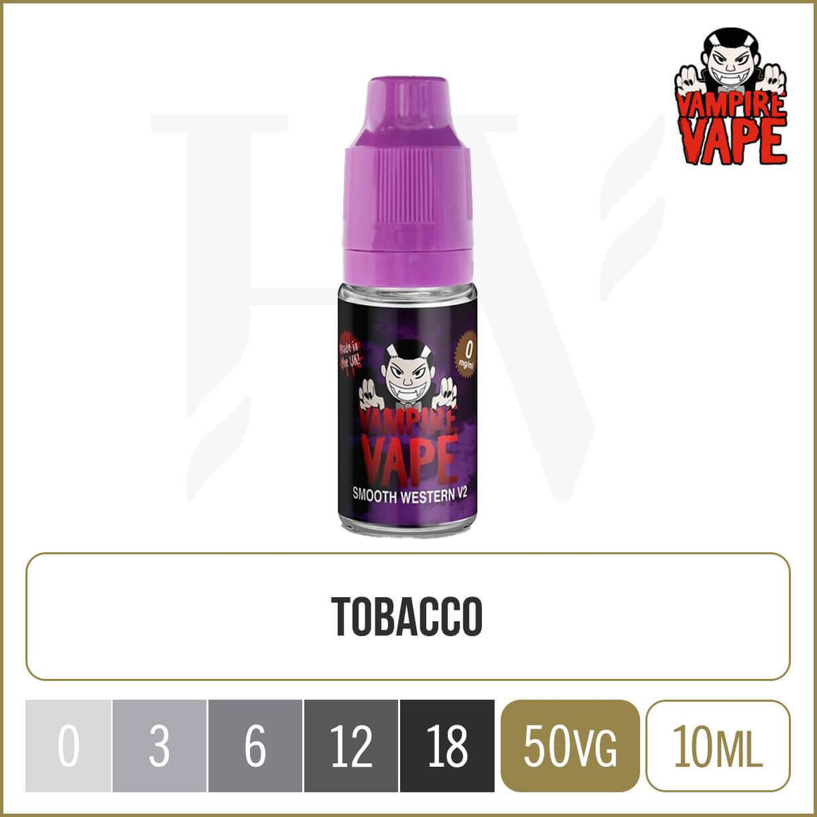 Vampire Vape smooth western e liquid 10ml