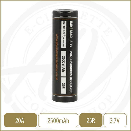 Batteries - HOV Battery - 25R - 2500mAh