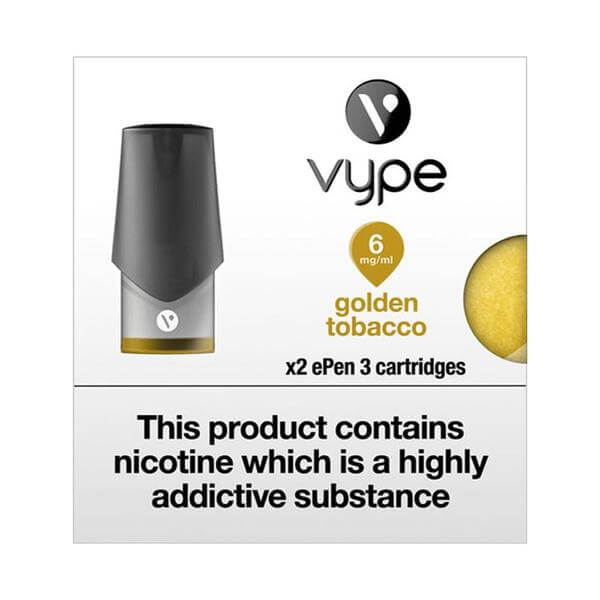 Vype epen 3 golden tobacco pod 2 pack