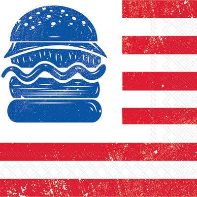 Lunch Napkins - All-American Burger