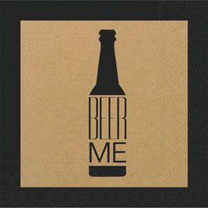 Cocktail Napkins - Beer Me