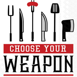 Lunch Napkins - Choose Your Weapon