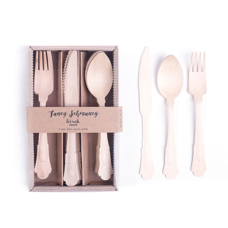 Birch Utensil Set - Fancy Schmancy