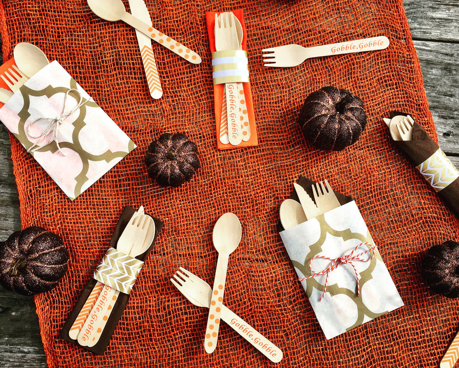 Birch Utensil Sets - Gobble, Gobble